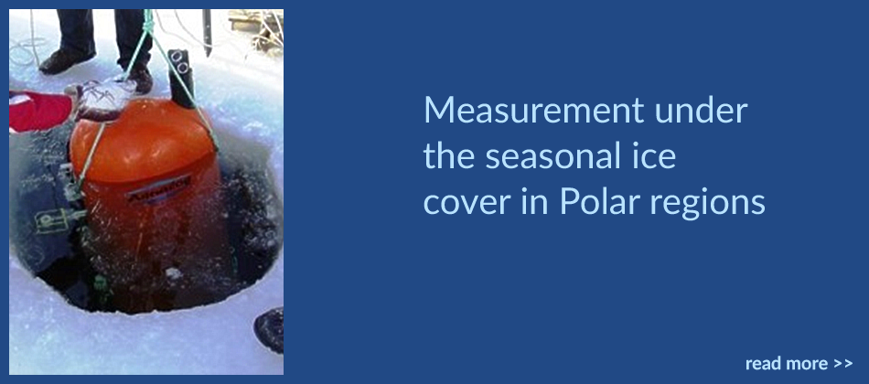 Measurement under the seasonal ice cover